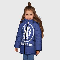 Куртка зимняя для девочки Chelsea FC цвета 3D-черный — фото 2