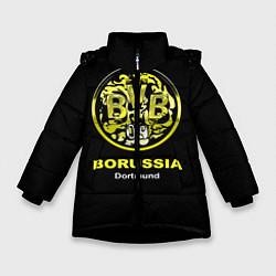 Куртка зимняя для девочки Borussia Dortmund цвета 3D-черный — фото 1