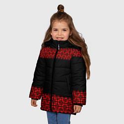 Куртка зимняя для девочки Славянский орнамент (на чёрном) цвета 3D-черный — фото 2