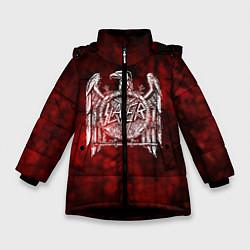 Детская зимняя куртка для девочки с принтом Slayer: Blooded Eagle, цвет: 3D-черный, артикул: 10109345006065 — фото 1