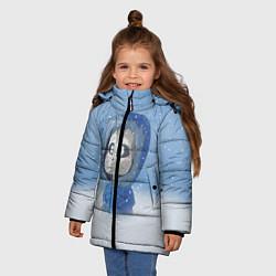 Куртка зимняя для девочки Sans цвета 3D-черный — фото 2