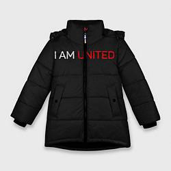 Куртка зимняя для девочки Manchester United team цвета 3D-черный — фото 1
