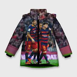 Куртка зимняя для девочки Barcelona5 цвета 3D-черный — фото 1