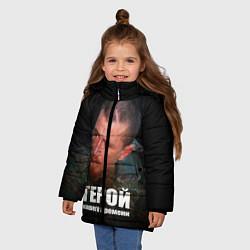 Куртка зимняя для девочки Моторола - Герой нашего времени цвета 3D-черный — фото 2