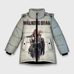 Куртка зимняя для девочки Walking Dead цвета 3D-черный — фото 1