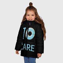 Куртка зимняя для девочки I Donut care цвета 3D-черный — фото 2
