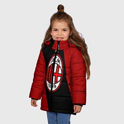 Куртка зимняя для девочки Milan FC: Red Collection цвета 3D-черный — фото 2