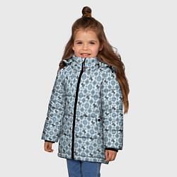 Куртка зимняя для девочки Олени цвета 3D-черный — фото 2