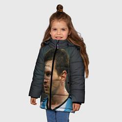 Куртка зимняя для девочки Leo Messi цвета 3D-черный — фото 2
