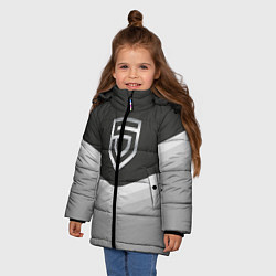 Куртка зимняя для девочки Penta Uniform цвета 3D-черный — фото 2