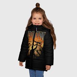 Куртка зимняя для девочки Zombie Boom цвета 3D-черный — фото 2