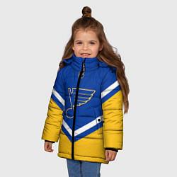 Куртка зимняя для девочки NHL: St. Louis Blues цвета 3D-черный — фото 2