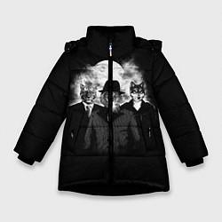 Куртка зимняя для девочки Элитные звери цвета 3D-черный — фото 1