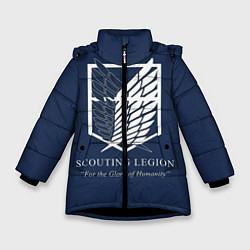 Куртка зимняя для девочки Wings цвета 3D-черный — фото 1