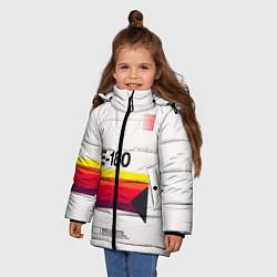 Куртка зимняя для девочки VHS E-180 цвета 3D-черный — фото 2