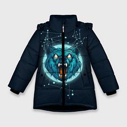 Куртка зимняя для девочки Космический медведь цвета 3D-черный — фото 1