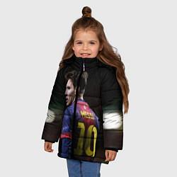 Куртка зимняя для девочки Месси 10 цвета 3D-черный — фото 2