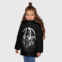 Куртка зимняя для девочки BMTH: Rain Symbol цвета 3D-черный — фото 2