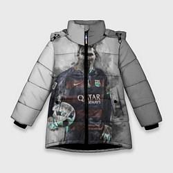 Куртка зимняя для девочки Lionel Messi цвета 3D-черный — фото 1