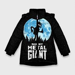 Детская зимняя куртка для девочки с принтом Bender Metal Giant, цвет: 3D-черный, артикул: 10113798806065 — фото 1