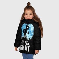 Куртка зимняя для девочки Bender Metal Giant цвета 3D-черный — фото 2