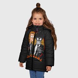 Детская зимняя куртка для девочки с принтом Pulporama, цвет: 3D-черный, артикул: 10113801506065 — фото 2