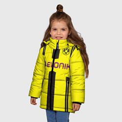 Куртка зимняя для девочки BVB: Marco Reus цвета 3D-черный — фото 2
