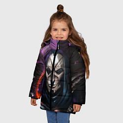 Куртка зимняя для девочки Mask цвета 3D-черный — фото 2
