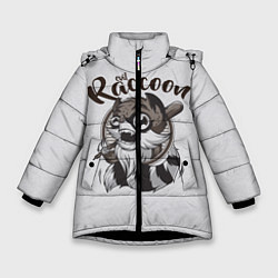 Куртка зимняя для девочки Evil Raccoon цвета 3D-черный — фото 1