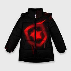 Куртка зимняя для девочки Gambit: Black collection цвета 3D-черный — фото 1
