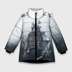 Детская зимняя куртка для девочки с принтом Shadow Tactics, цвет: 3D-черный, артикул: 10115409206065 — фото 1