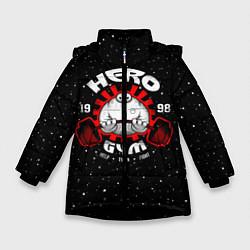 Куртка зимняя для девочки Hero Gym цвета 3D-черный — фото 1
