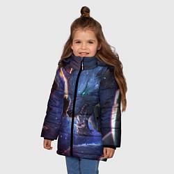 Куртка зимняя для девочки Warwick цвета 3D-черный — фото 2