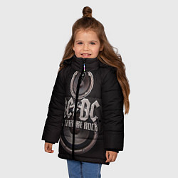 Куртка зимняя для девочки AC/DC: Let there be rock цвета 3D-черный — фото 2