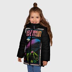 Куртка зимняя для девочки Led Zeppelin: Angel Poster цвета 3D-черный — фото 2