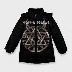 Куртка зимняя для девочки Disturbed Logo цвета 3D-черный — фото 1