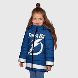 Куртка зимняя для девочки Tampa Bay: Kucherov цвета 3D-черный — фото 2