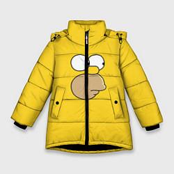 Куртка зимняя для девочки Гомер стесняется цвета 3D-черный — фото 1