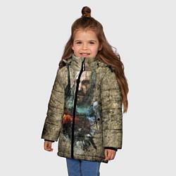 Куртка зимняя для девочки Ведьмак Геральт цвета 3D-черный — фото 2