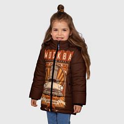 Куртка зимняя для девочки Moscow: mother Russia цвета 3D-черный — фото 2