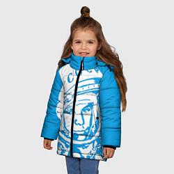 Куртка зимняя для девочки Гагарин: CCCP цвета 3D-черный — фото 2