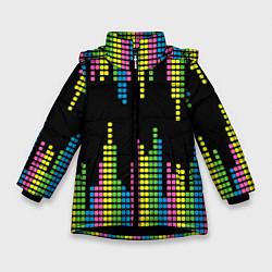 Куртка зимняя для девочки Эквалайзер цвета 3D-черный — фото 1