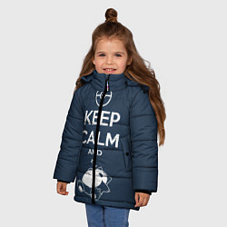 Куртка зимняя для девочки Keep Calm & Squirtle - фото 2