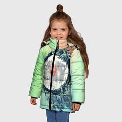 Куртка зимняя для девочки TES 2 цвета 3D-черный — фото 2
