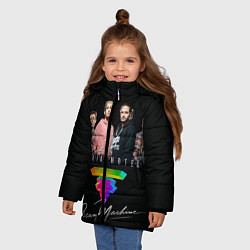 Куртка зимняя для девочки Tokio Hotel: Dream Band цвета 3D-черный — фото 2