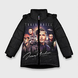 Куртка зимняя для девочки Tokio Hotel: Retro Dream цвета 3D-черный — фото 1
