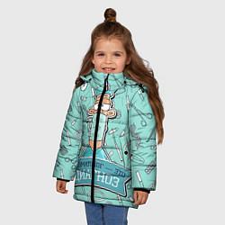 Куртка зимняя для девочки Травматолог цвета 3D-черный — фото 2