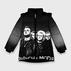 Куртка зимняя для девочки Depeche Mode: mono цвета 3D-черный — фото 1