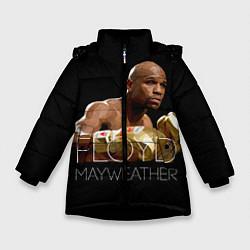 Куртка зимняя для девочки Floyd Mayweather цвета 3D-черный — фото 1