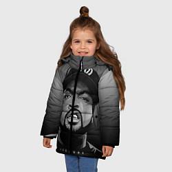 Куртка зимняя для девочки Ice Cube: Gangsta цвета 3D-черный — фото 2